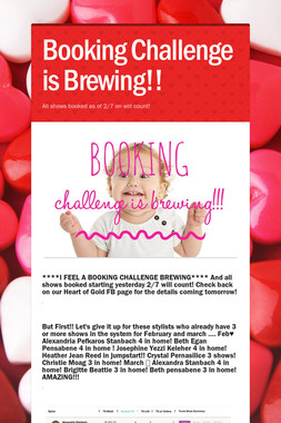 Booking Challenge is Brewing!!
