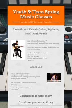 Youth & Teen Spring Music Classes