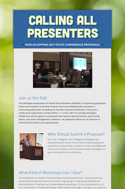 Calling All Presenters