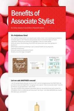 Benefits of Associate Stylist
