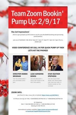 Team Zoom Bookin' Pump Up:  2/9/17