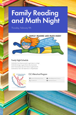 Family Reading and Math Night