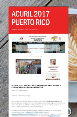 ACURIL 2017 PUERTO RICO
