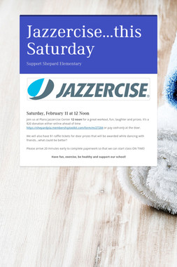 Jazzercise...this Saturday