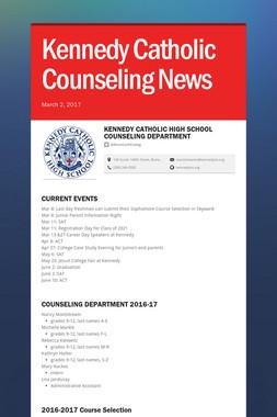 Kennedy Catholic Counseling News