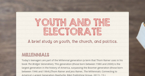 Youth And The Electorate Smore Newsletters For Education