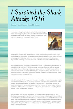 I Survived the Shark Attacks  1916