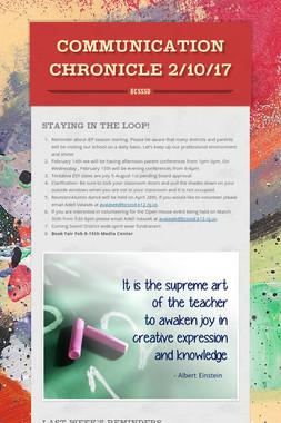Communication Chronicle 2/10/17
