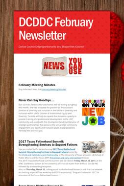 DCDDC February Newsletter