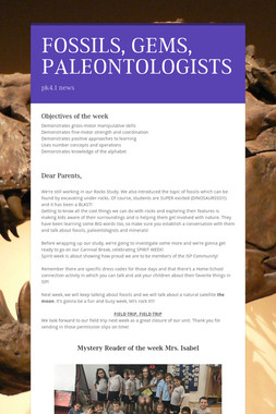 FOSSILS, GEMS, PALEONTOLOGISTS