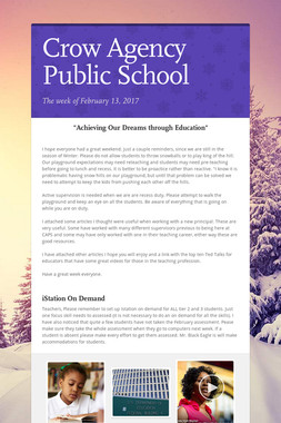 Crow Agency Public School