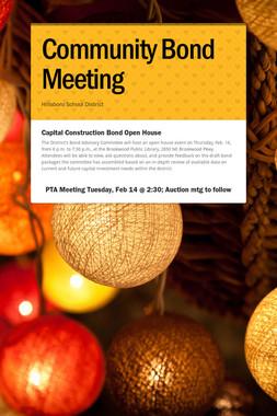 Community Bond Meeting