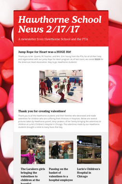 Hawthorne School News 2/17/17