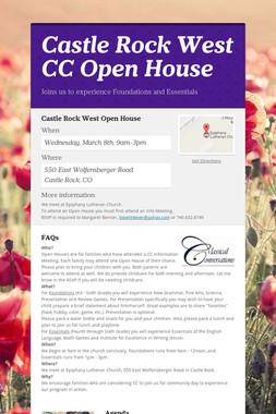 Castle Rock West CC Open House