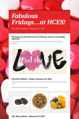 Fabulous Fridays....at HCES!