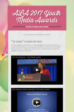ALA 2017 Youth Media Awards