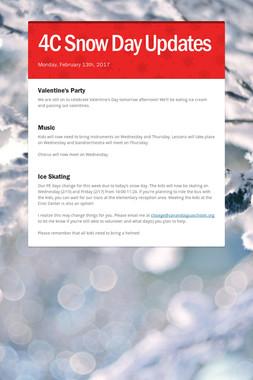 4C Snow Day Updates