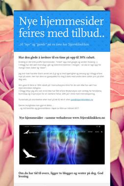 Nye hjemmesider feires med tilbud..