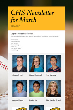 CHS Newsletter for March