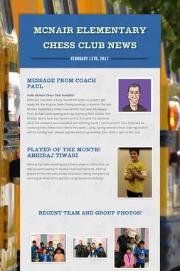 McNair Elementary Chess Club News