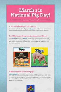 March 1 is National Pig Day!