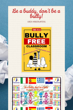 Be a buddy, don't be a bully!