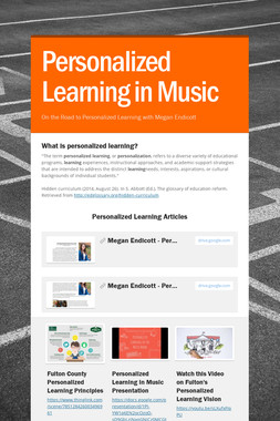 Personalized Learning in Music