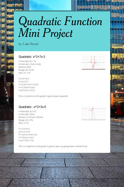 Quadratic Function Mini Project