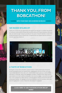 THANK YOU, FROM BOBCATHON!