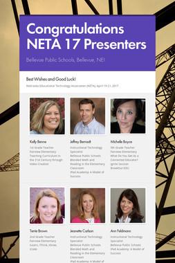 Congratulations NETA 17 Presenters