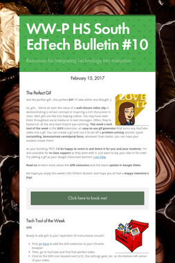 WW-P HS South EdTech Bulletin #10
