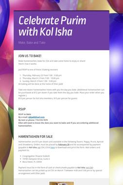 Celebrate Purim with Kol Isha