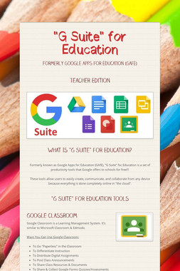 """""""G Suite"""" for Education"""