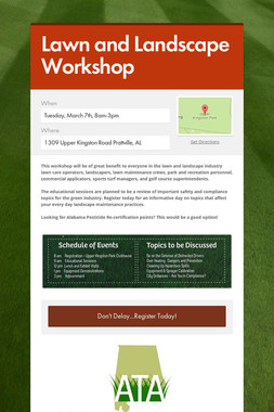 Lawn and Landscape Workshop