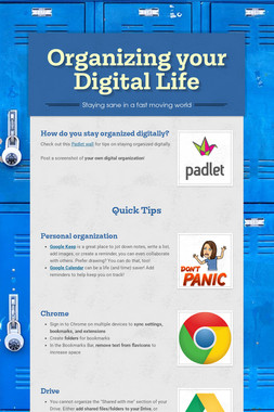 Organizing your Digital Life