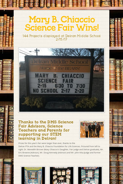 Mary B. Chiaccio Science Fair Wins!