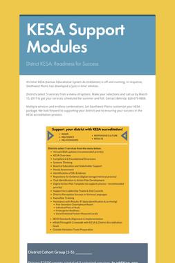 KESA Support Modules