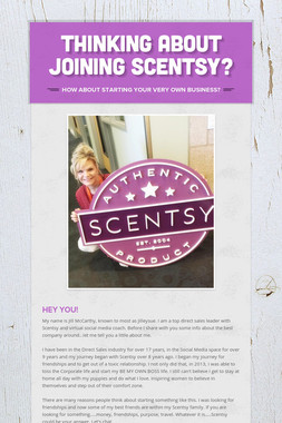 Thinking about Joining Scentsy?