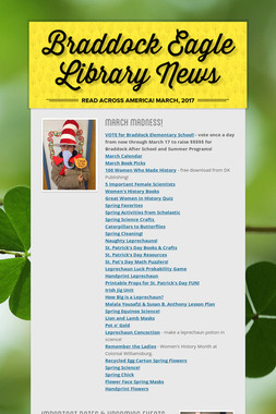 Braddock Eagle Library News