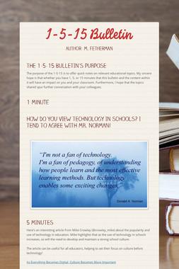 1-5-15 Bulletin