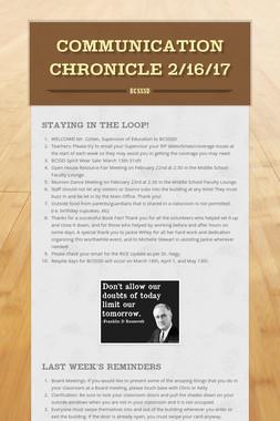 Communication Chronicle 2/16/17