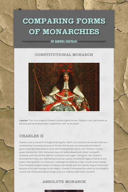 Comparing Forms of Monarchies
