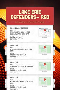 Lake Erie Defenders- RED