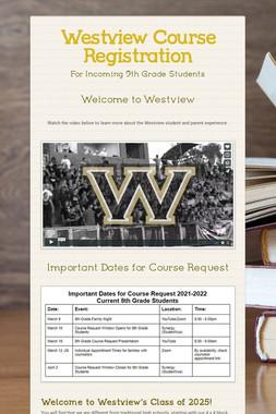Westview Course Registration