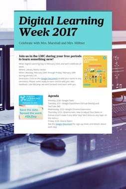 Digital Learning Week 2017