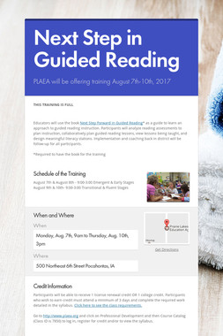 Next Step in Guided Reading