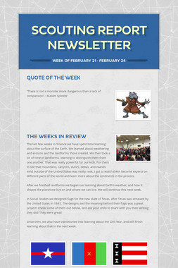Scouting Report Newsletter