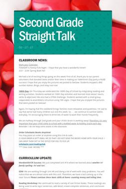 Second Grade Straight Talk