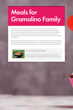 Meals for Gramolino Family