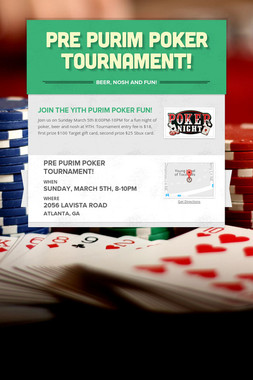 Pre Purim Poker Tournament!
